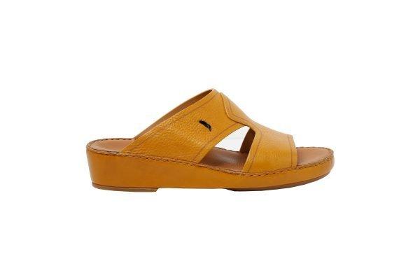 Albatar men arabian sandal Royale ocher side