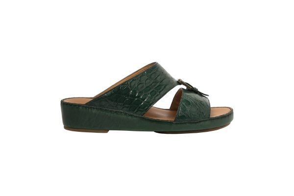 albatar men arabian sandal saif alligator green side