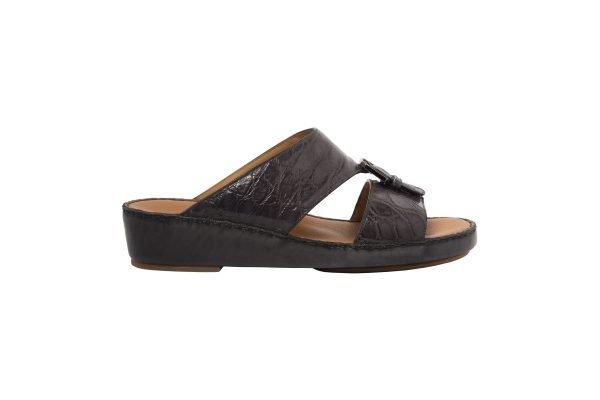 albatar men arabian sandal saif alligator grey side