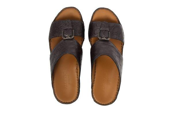 albatar men arabian sandal saif alligator grey top