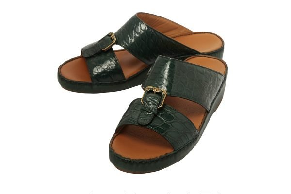 albatar men arabian sandal saif alligator green