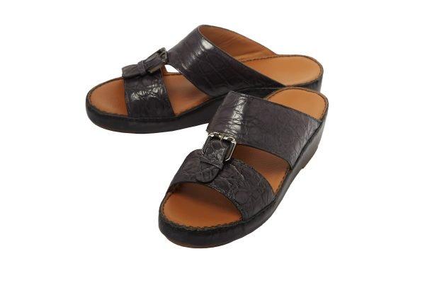 albatar men arabian sandal saif alligator grey