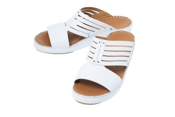 albatar men arabian sandals azzam white