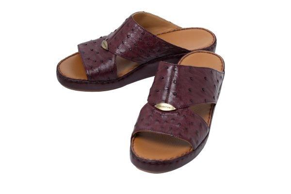 Albatar men arabian sandal albatar upper class ostrich bordeaux