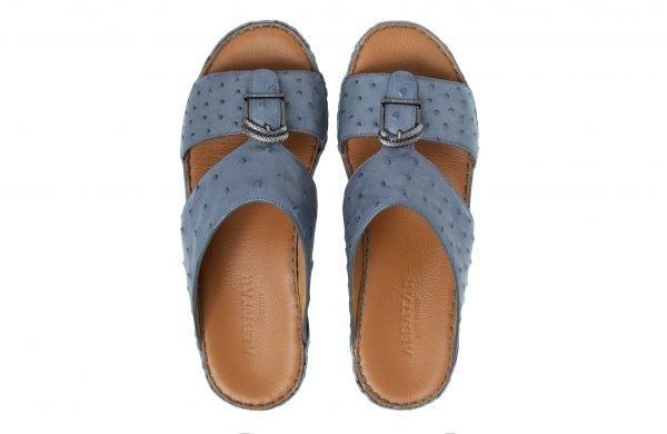 albatar men sandal saif ostrich grey top