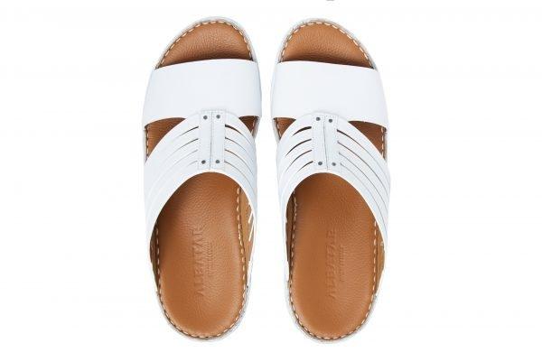 albatar men arabian sandals azzam white top