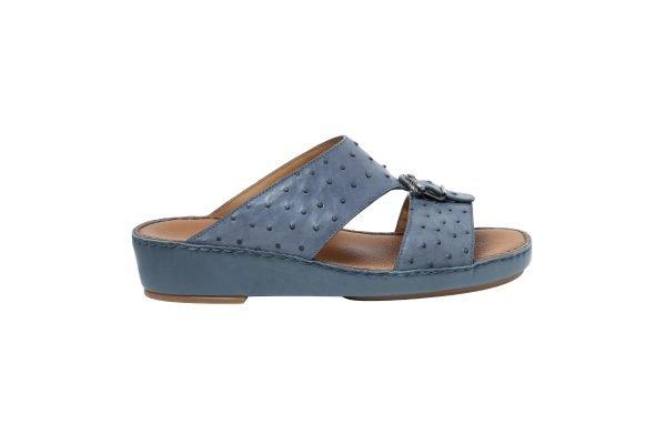 albatar men sandal saif ostrich grey side
