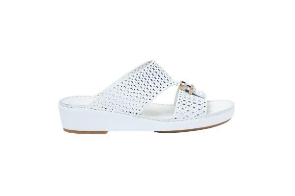 albatar men sandal rabdan white side