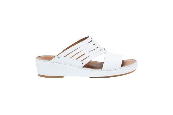 albatar men arabian sandals azzam white side