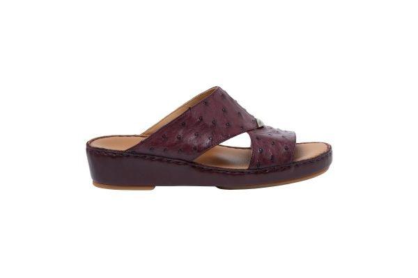 Albatar men arabian sandal albatar upper class ostrich bordeaux side