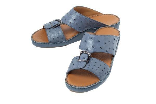 albatar men sandal saif ostrich grey