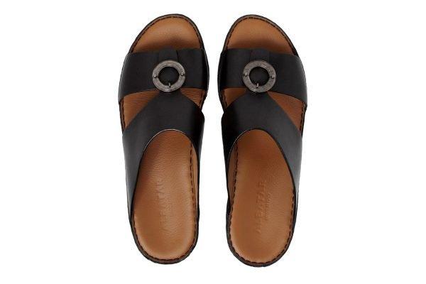 Albatar men arabian sandal albatar saif bb black top