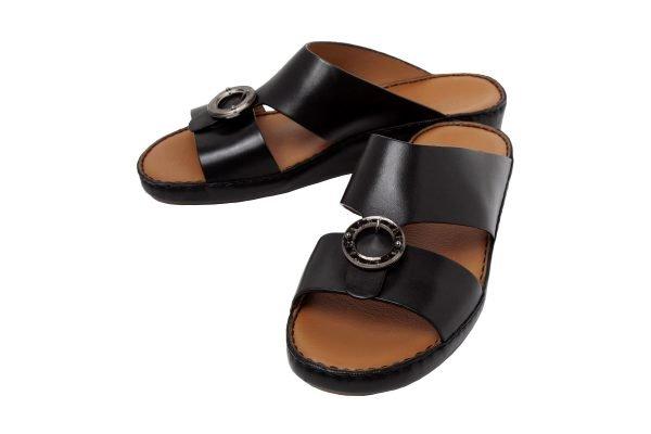 Albatar men arabian sandal albatar saif bb black