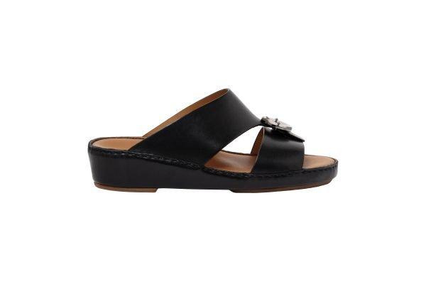 Albatar men arabian sandal albatar saif bb black side