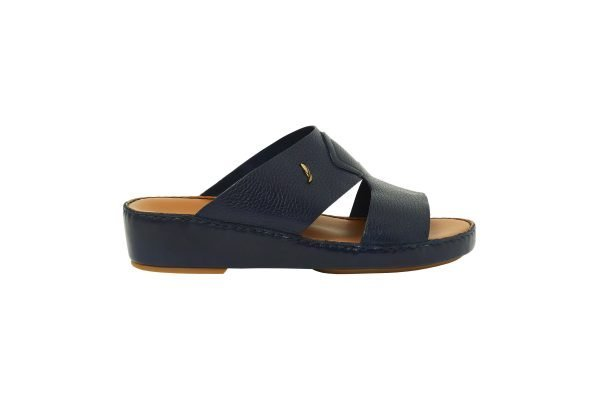 Albatar men arabian sandal rehan deer calf navy blue side