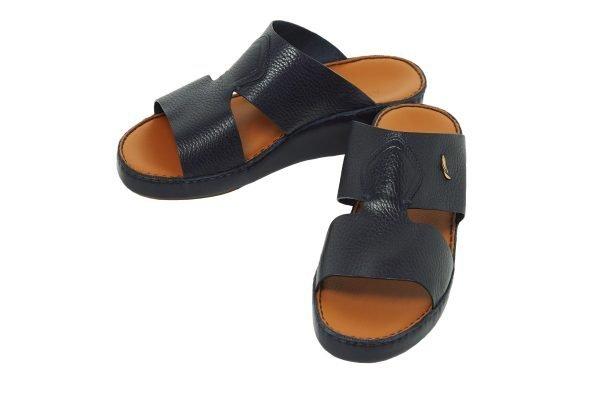 Albatar men arabian sandal rehan deer calf navy blue