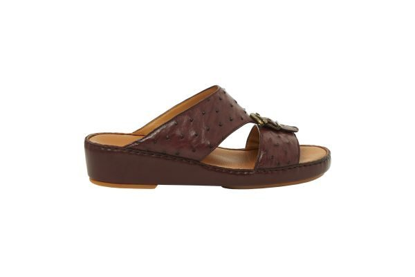 albatar men sandal saif ostrich bordeaux side