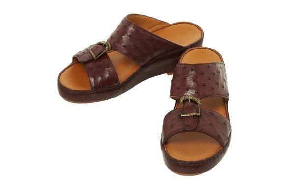 albatar men sandal saif ostrich bordeaux