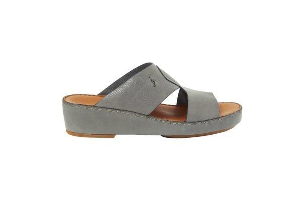Albatar men arabian sandal rehan deer calf grey side