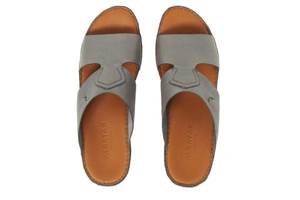 Albatar men arabian sandal rehan deer calf grey top