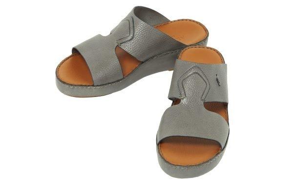 Albatar men arabian sandal rehan deer calf grey